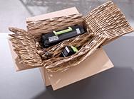 Verpacken mit selbst hergestelltem Verpackungsmaterial