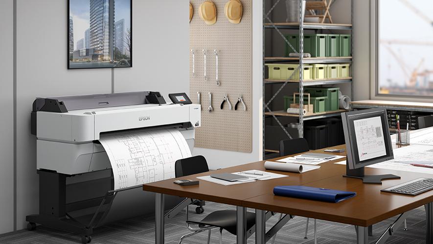 EPSON Grossformatdrucker im Büroeinsatz