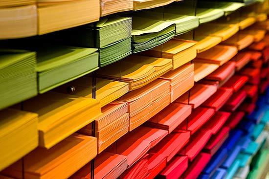 Verkauf von farbigem Papier - Soremba Copy-Center in Schweinfurt