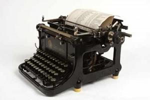 Service für alte Schreibmaschine