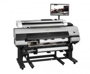 Rowe 850i MFP - Großformat-Scanner an einem Grossformatdrucker