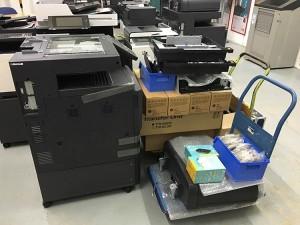 Auslieferung Multifunktionsgerät Utax 3005ci Gebrauchtgerät