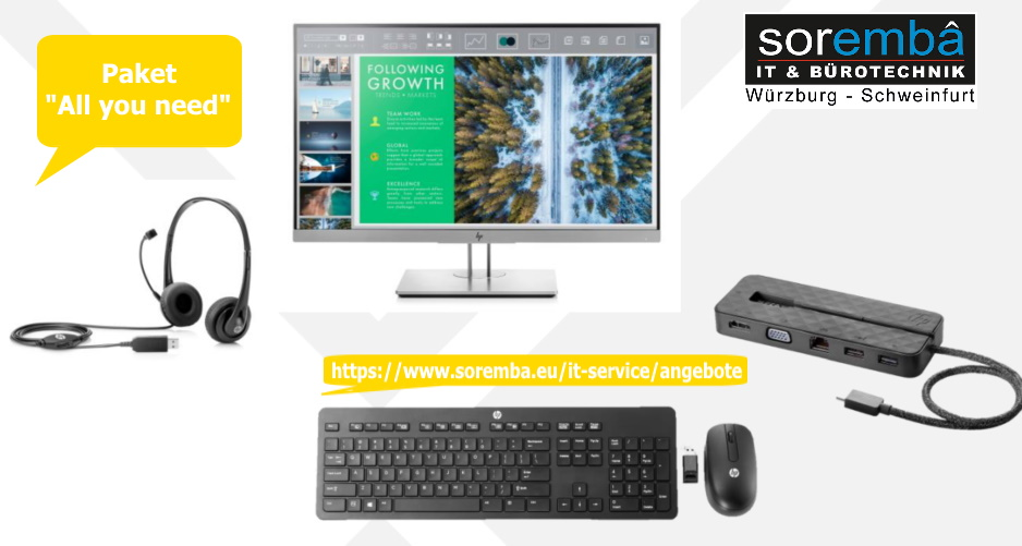 """hp Home-Office-Paket """"All you need"""""""