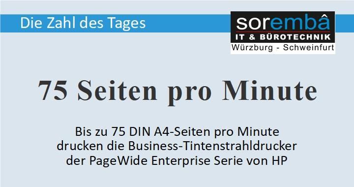 75 Seiten pro Minute