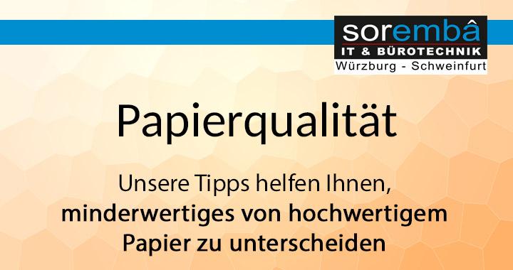 Papierqualität