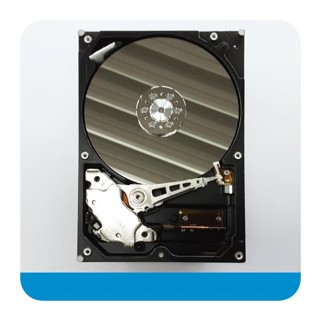 Eine Festplatte von innen