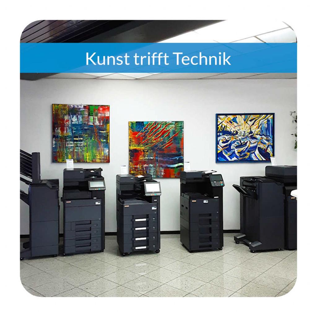 Gemälde von Gerhard R. Göbel im Showroom von Soremba IT in Schweinfurt
