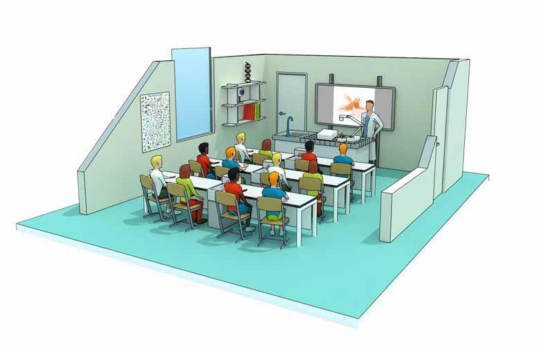 Epson Klassenzimmer - mit Beamer und Dokumentenkamera