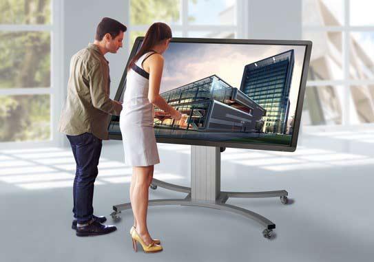 Displayaufhängung - Fahrgestell (kippbar)