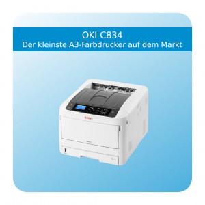 OKI C834 – Der kleinste A3-Farbdrucker