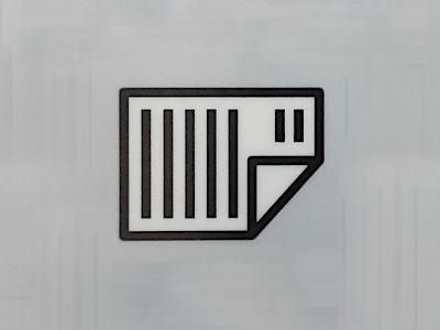 Symbol am Drucker - Papier einlegen