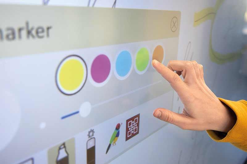 viewsonic viewboard finger-touch nahaufnahme