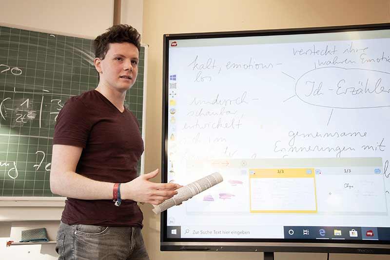 Schul-Präsentation mit viewsonic viewboard