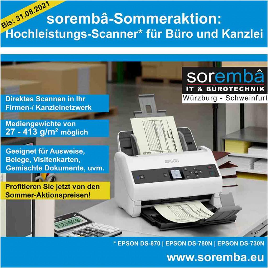 Hochleistungs-Scanner von Epson (DS-870 | DS-780N | DS-730N)