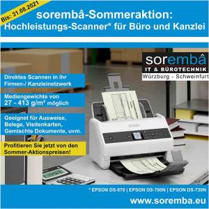 sorembâ-Sommeraktion: Hochleistungs-Scanner für Büro und Kanzlei