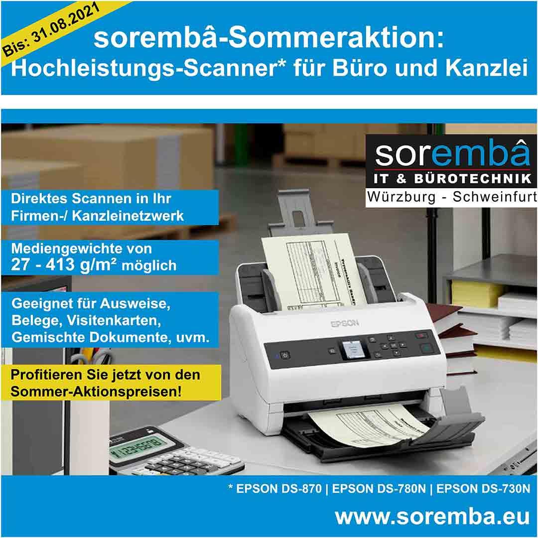 Read more about the article sorembâ-Sommeraktion: Hochleistungs-Scanner für Büro und Kanzlei